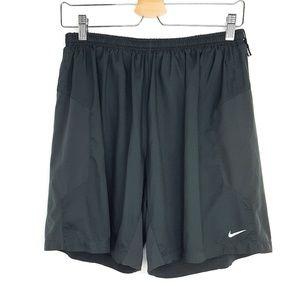 Nike Dri-Fit Dark Gray Running Athletic Shorts L